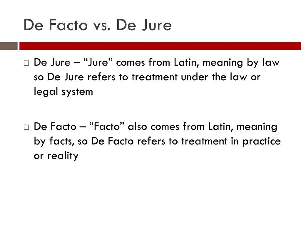 meaning de jure
