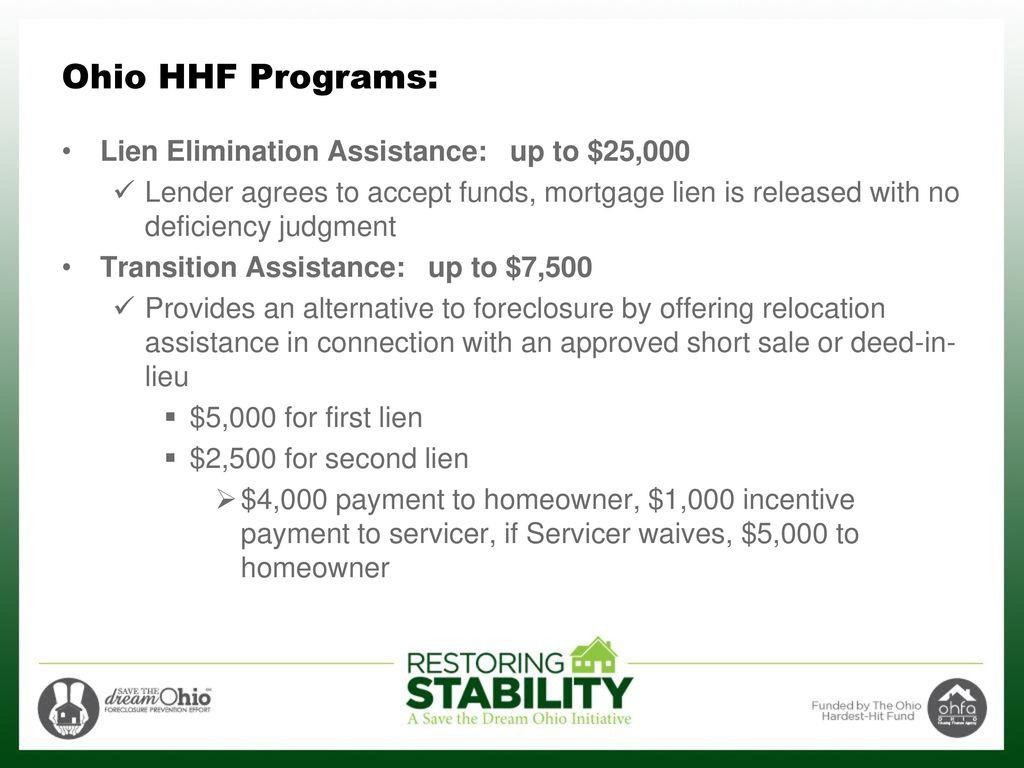 Ohio Award: $570 4 Million to prevent foreclosure - ppt download