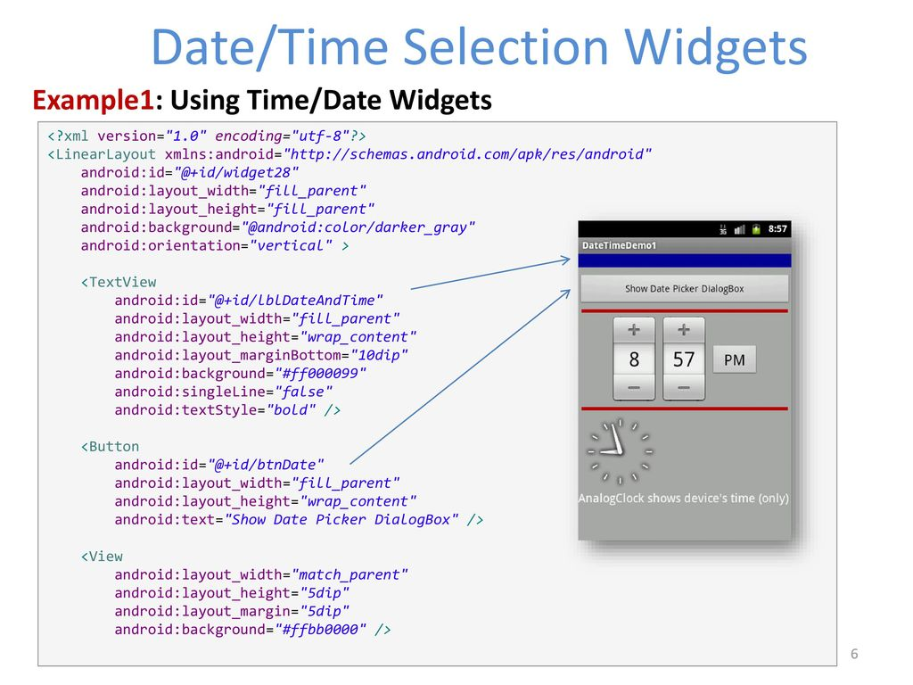 Android Date /Time – TabWidget - ActionBar - ppt download