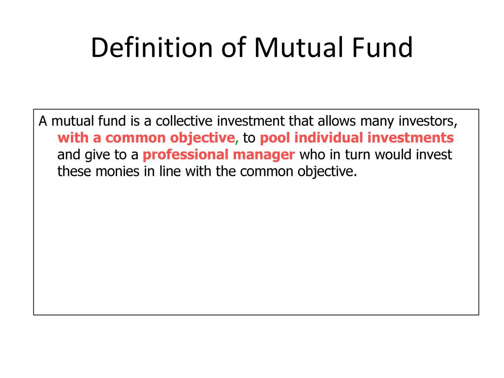 performance & features of mutual fund - ppt download
