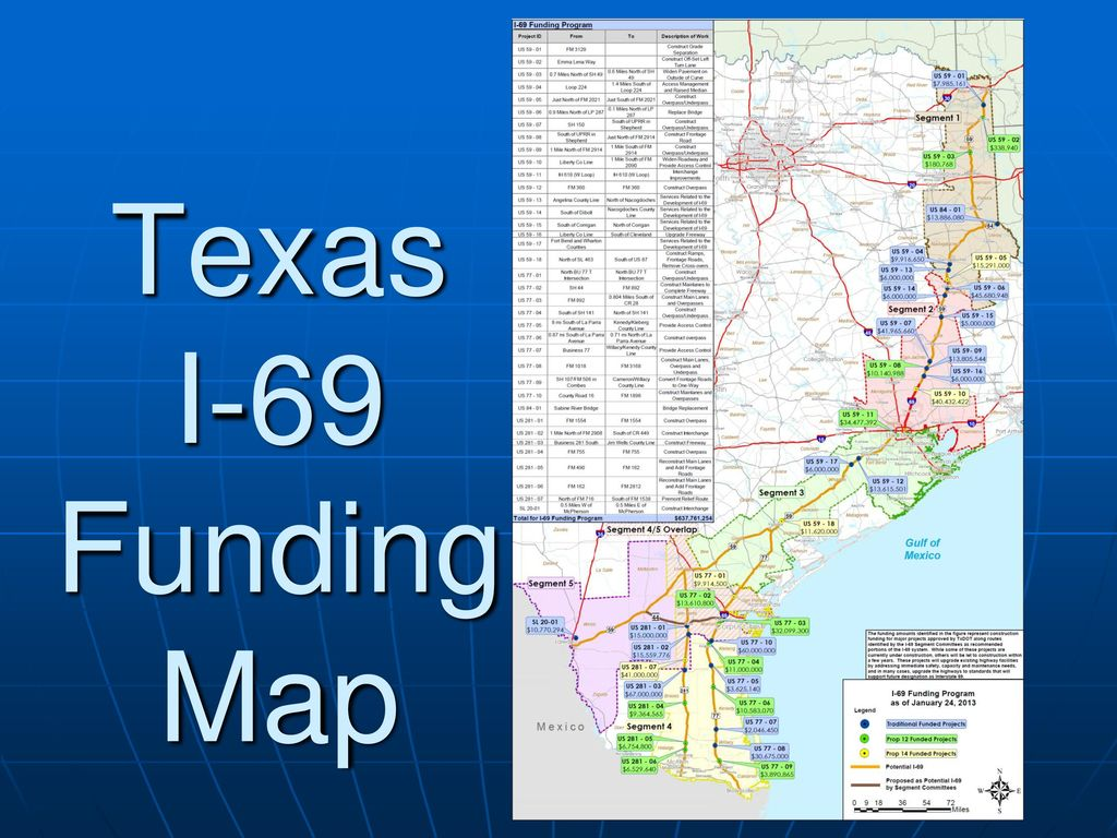 Map Of Interstate 69 In Texas.Interstate 49 Summary Palms To Pines Presented By Ppt Download