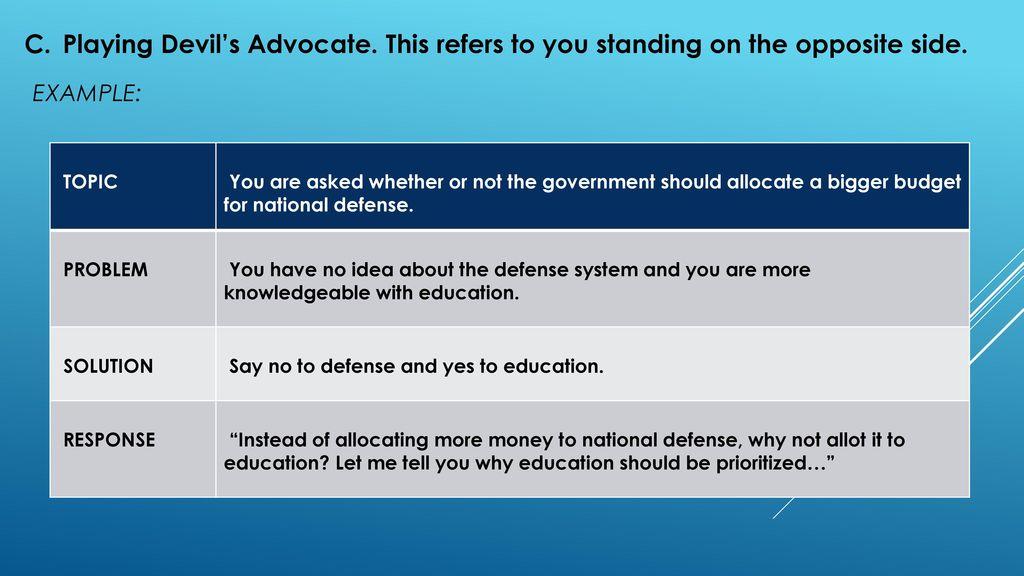 defense speech example
