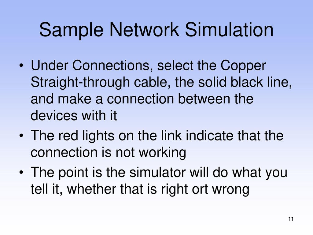 How To Use Packet Tracer Ppt Download Straight Through Network Cable Wiring Sample Simulation