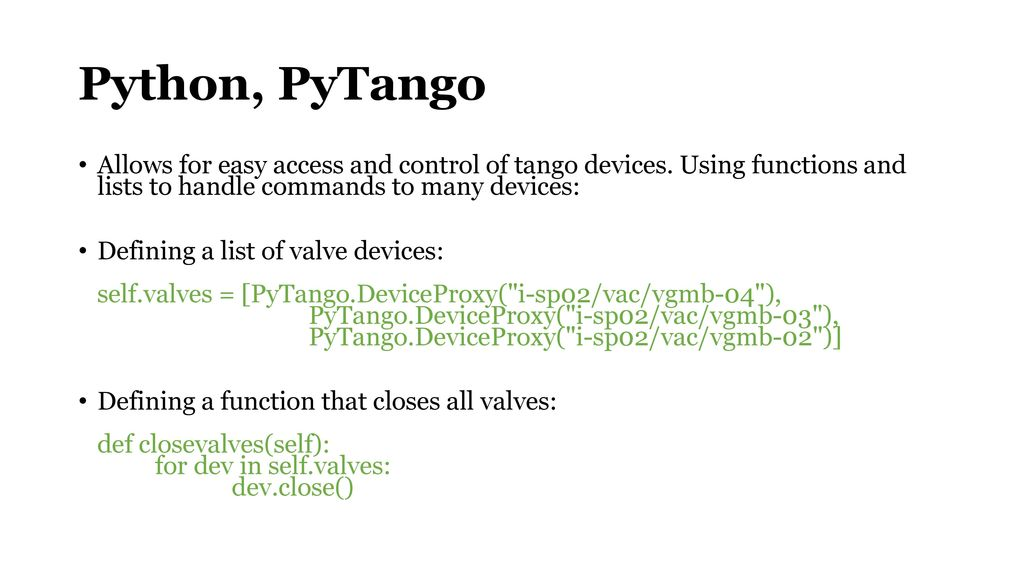 Python, PyTango + QT Designer Operations perspective on