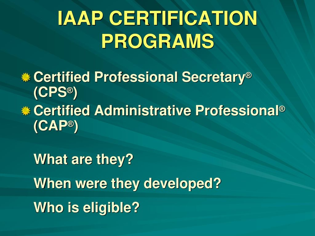 Professional Certification The Career Advantage Ppt Download
