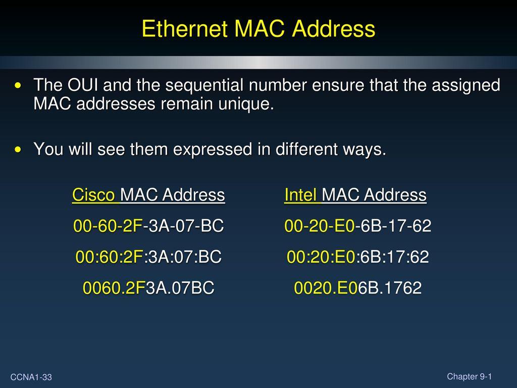 Chapter 9 Ethernet Part I  - ppt download