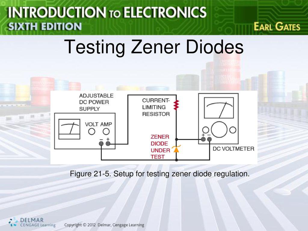 Chapter 21 Zener Diodes Ppt Download Diode Tester 10 Testing Figure Setup For Regulation