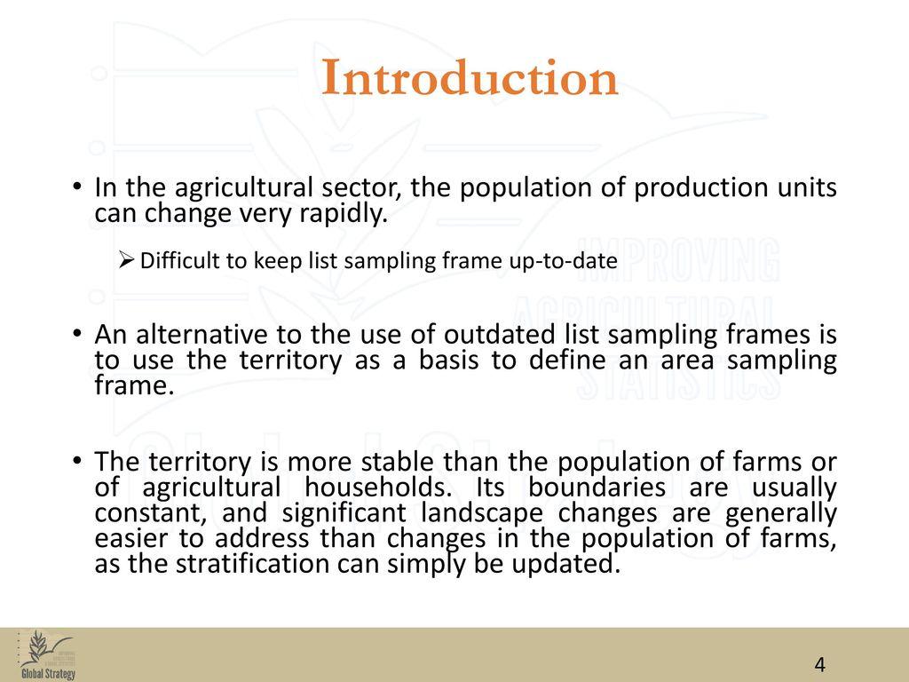MASTER SAMPLING FRAME(MSF) AGRICULTURAL STATISTICS - ppt download
