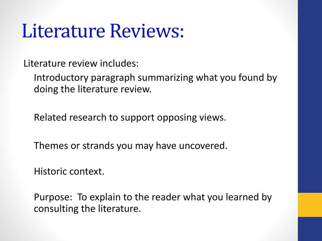 introductory paragraph for review of related literature