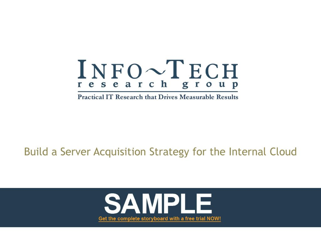 Build a Server Acquisition Strategy for the Internal Cloud - ppt
