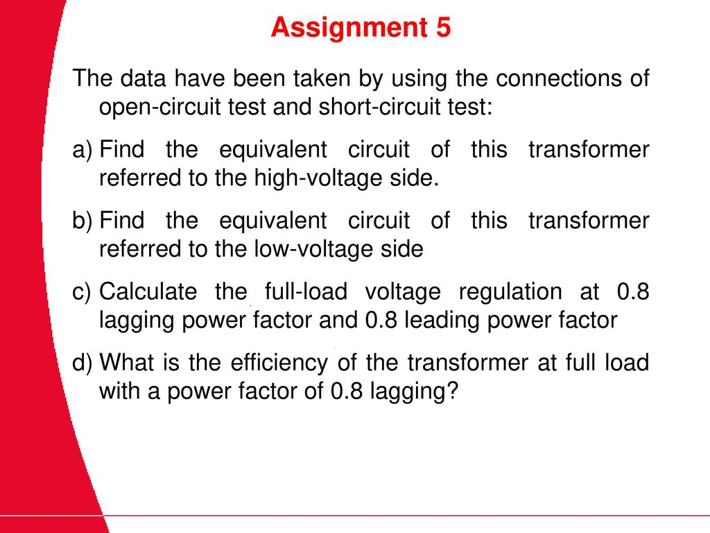 Basic Electrical Technology Det 211 3 Ppt Download Short Circuit Test Open And Assignment 5 The Data Have Been Taken By Using Connections Of