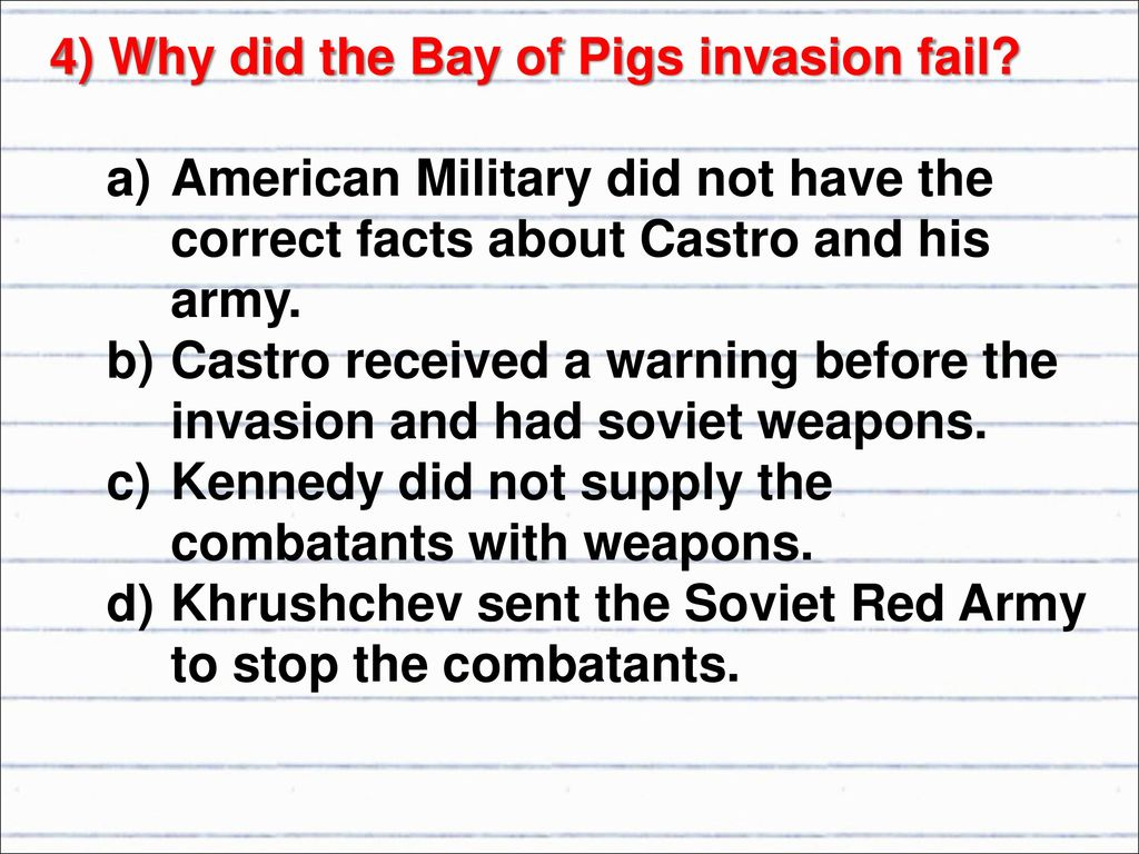 why did the bay of pigs invasion fail