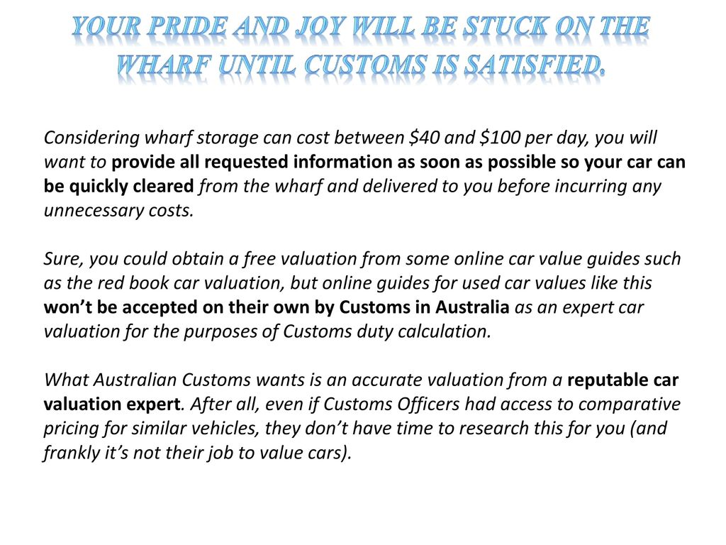 Car Valuation for Import and Classic Cars - ppt download
