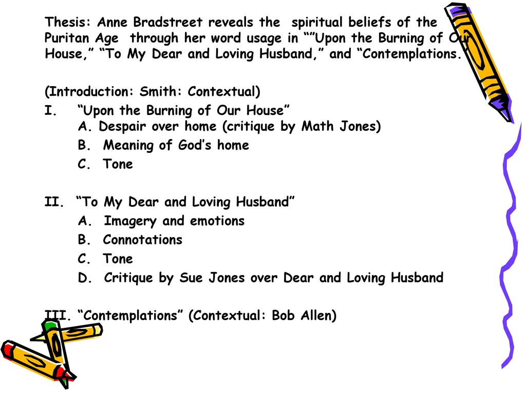 anne bradstreet contemplations summary