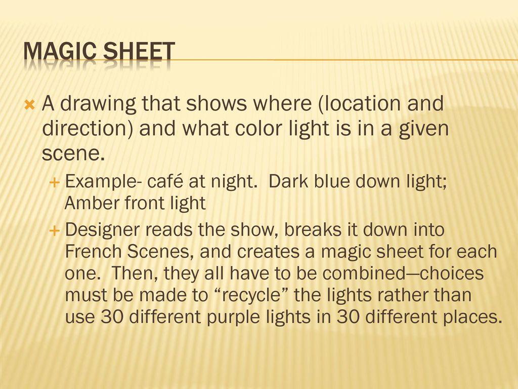 Lighting Designers Toolbox Ppt Download