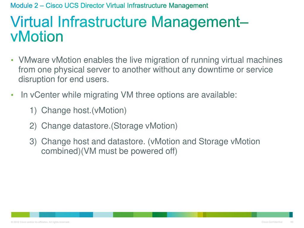 Ucs virtual machine manager