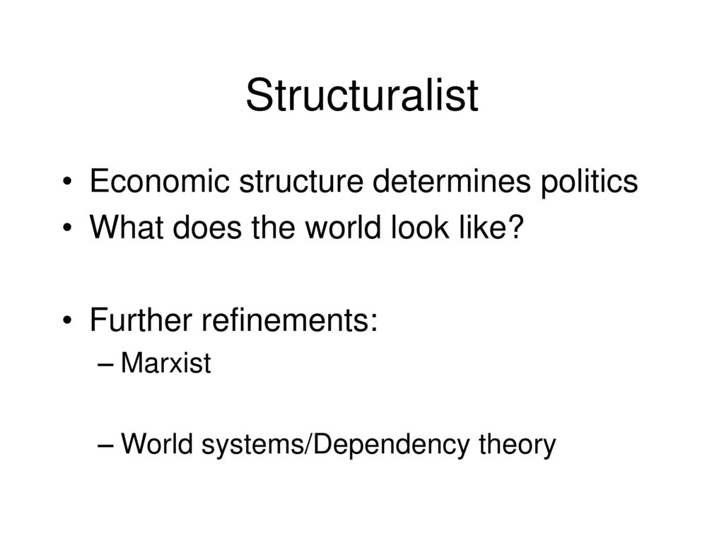 structuralist economic theory