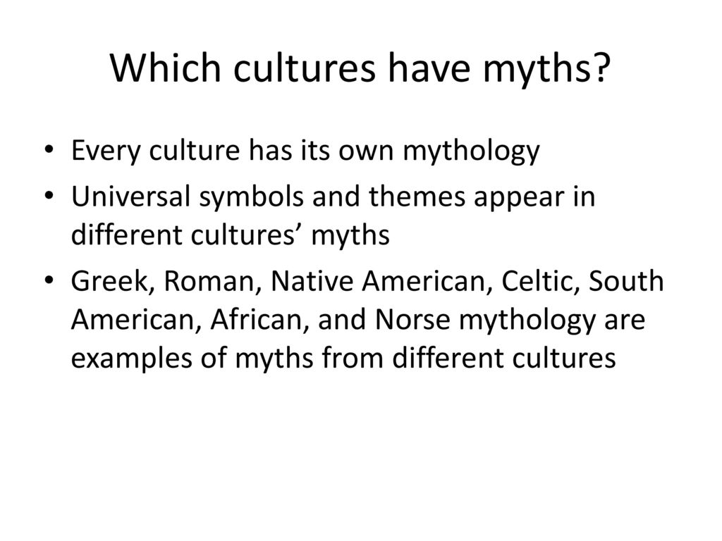 examples of cultural myths in america
