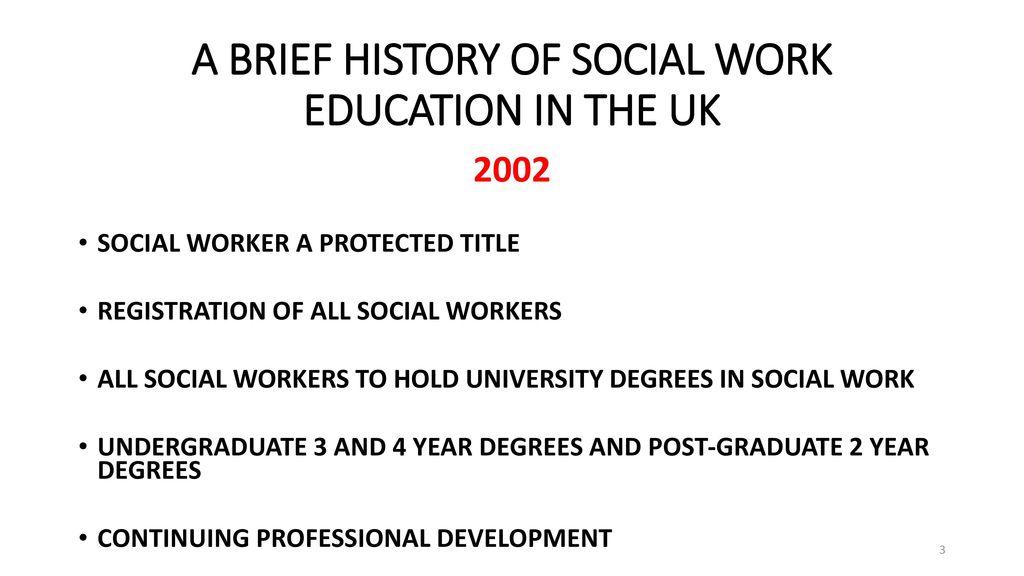 social work courses uk