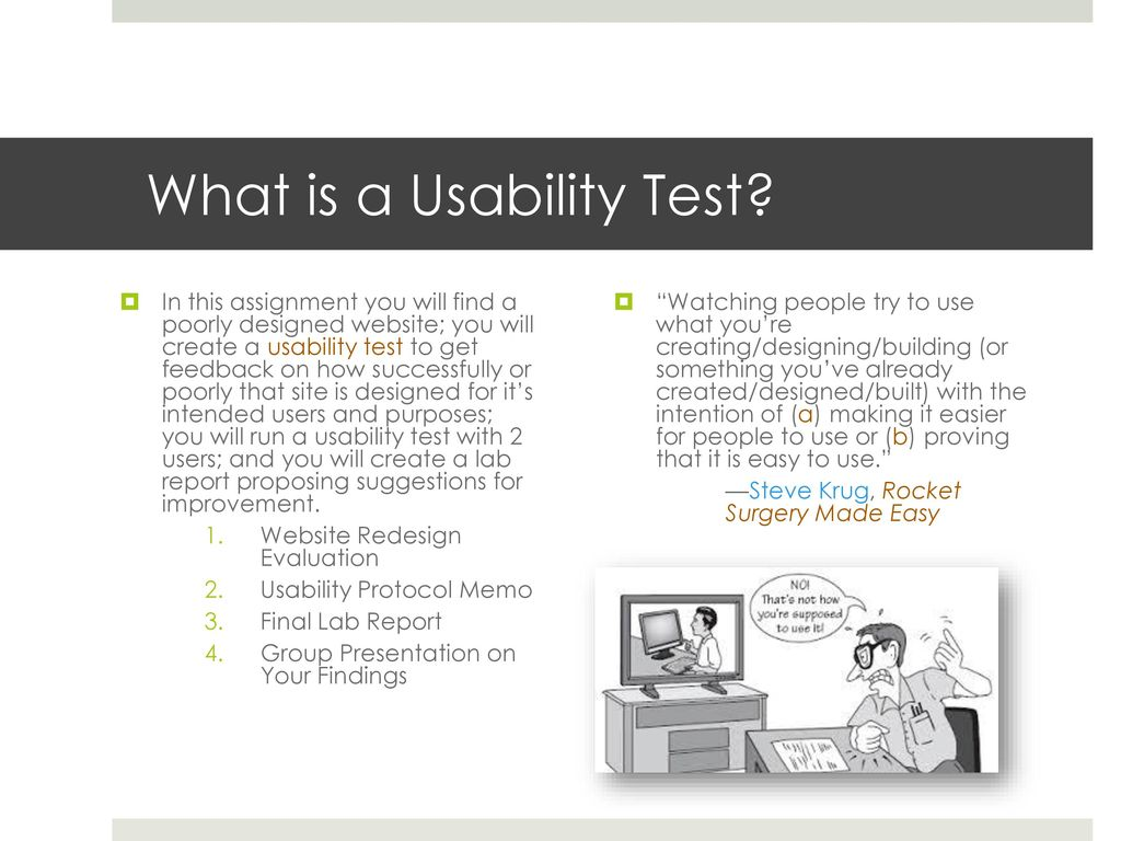 Usability Testing and Web Design - ppt download