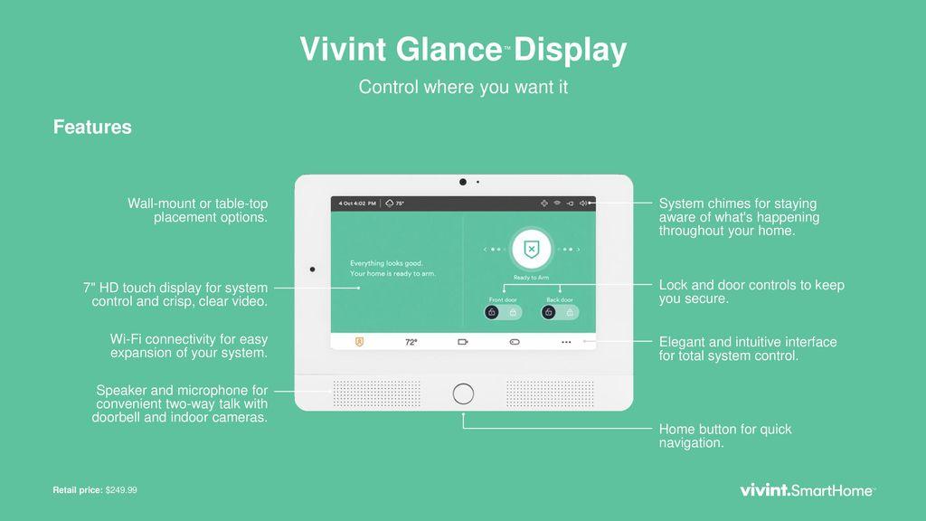 Vivint Glance™ Display - ppt download