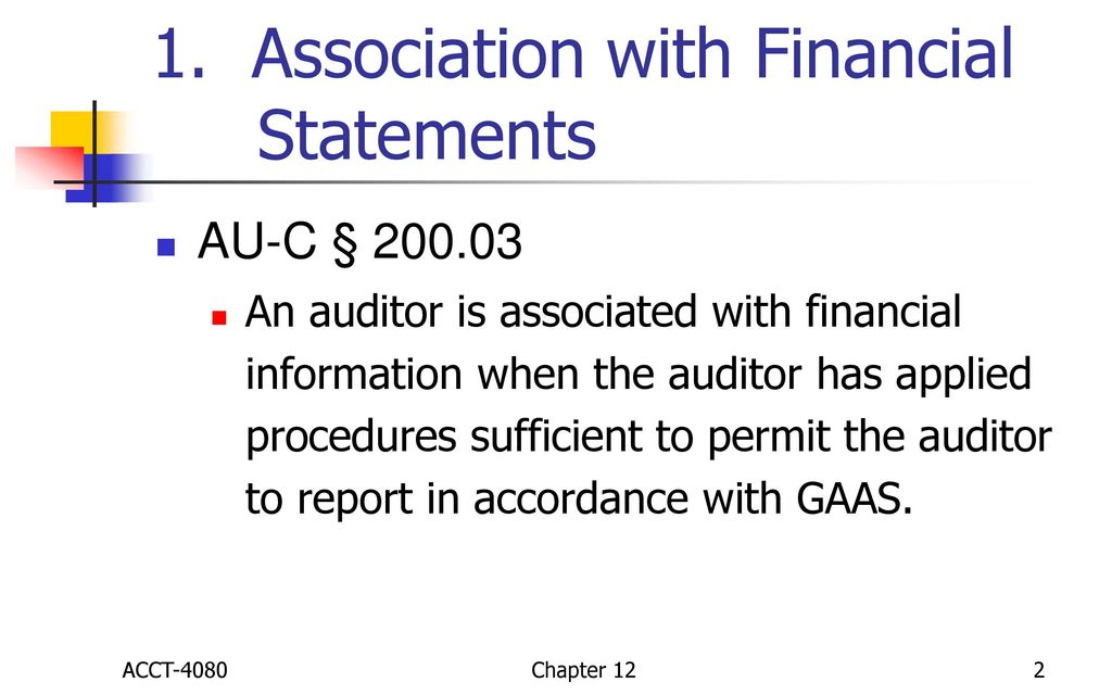 Reports on Audited Financial Statements - ppt download