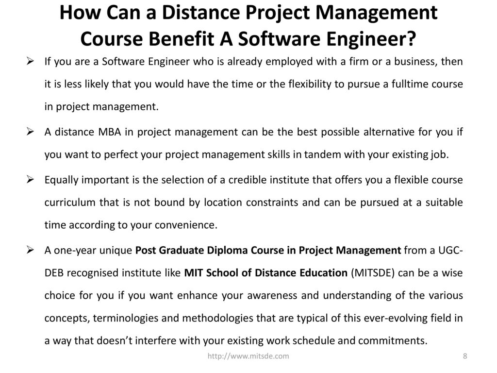 Benefits Of Project Management Course For Software Engineers Ppt