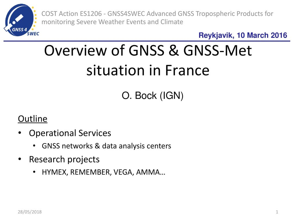 Overview of GNSS & GNSS-Met situation in France - ppt download