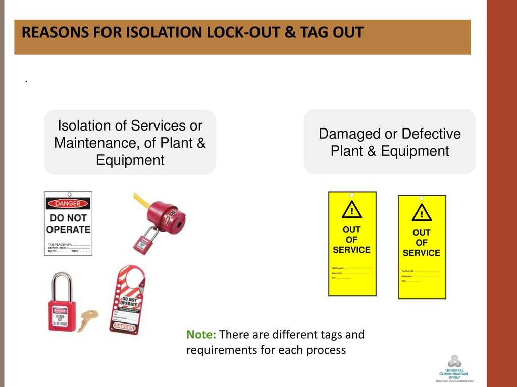 UCG- TAG OUT LOCK OUT  - ppt download