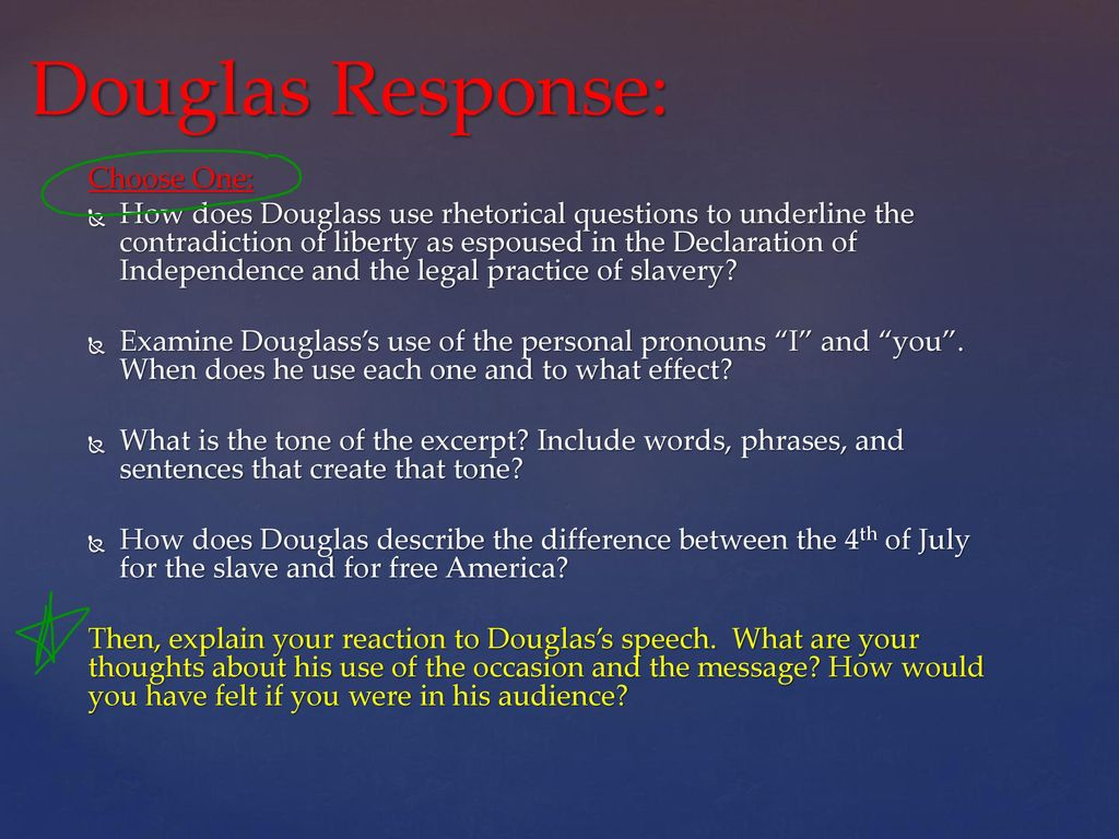 why does douglass use parallelism