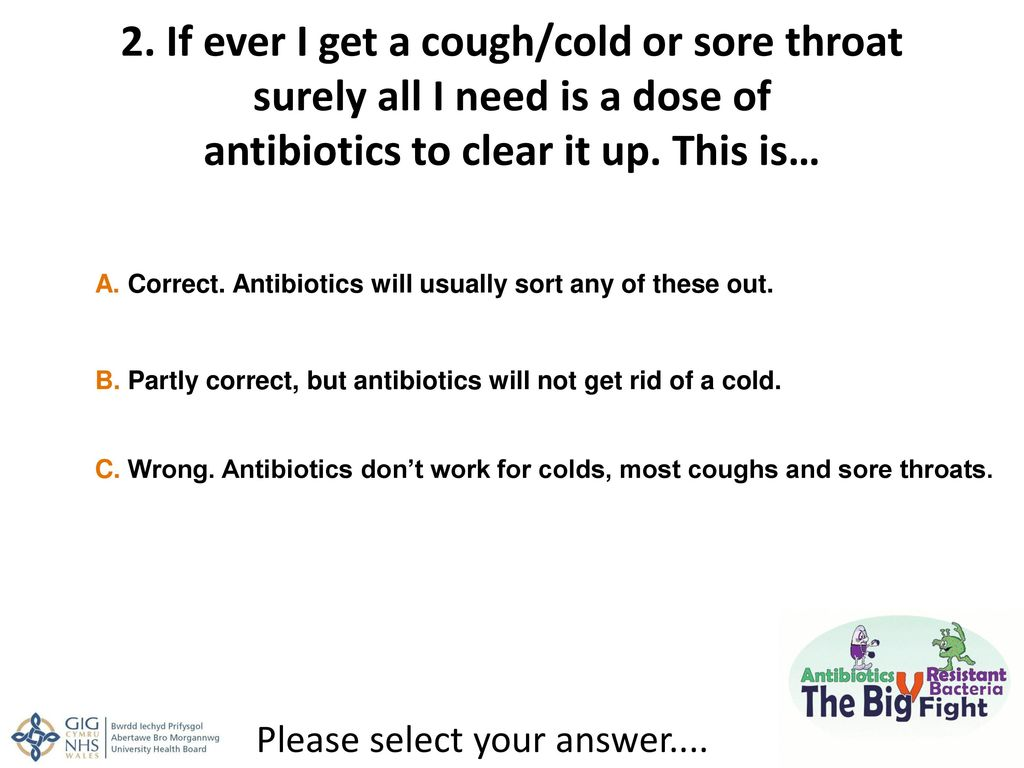 Most Coughs Dont Respond to Antibiotics