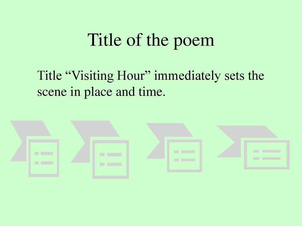 visiting hour poem