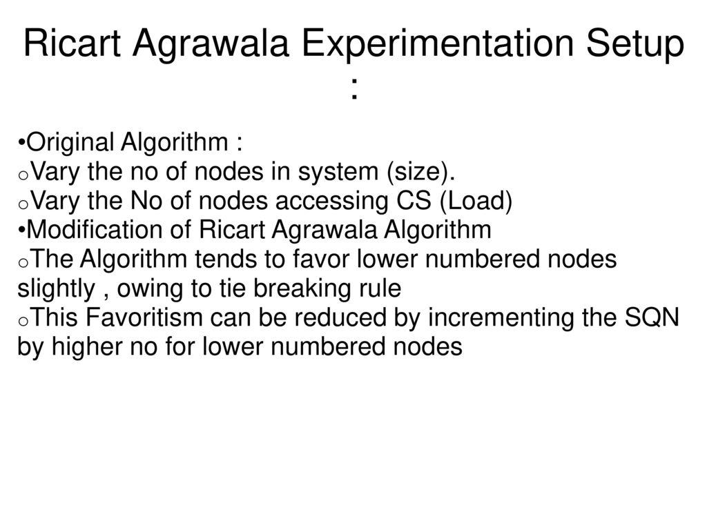 Agrawala implementation of ricart agrawala algorithm - ppt download