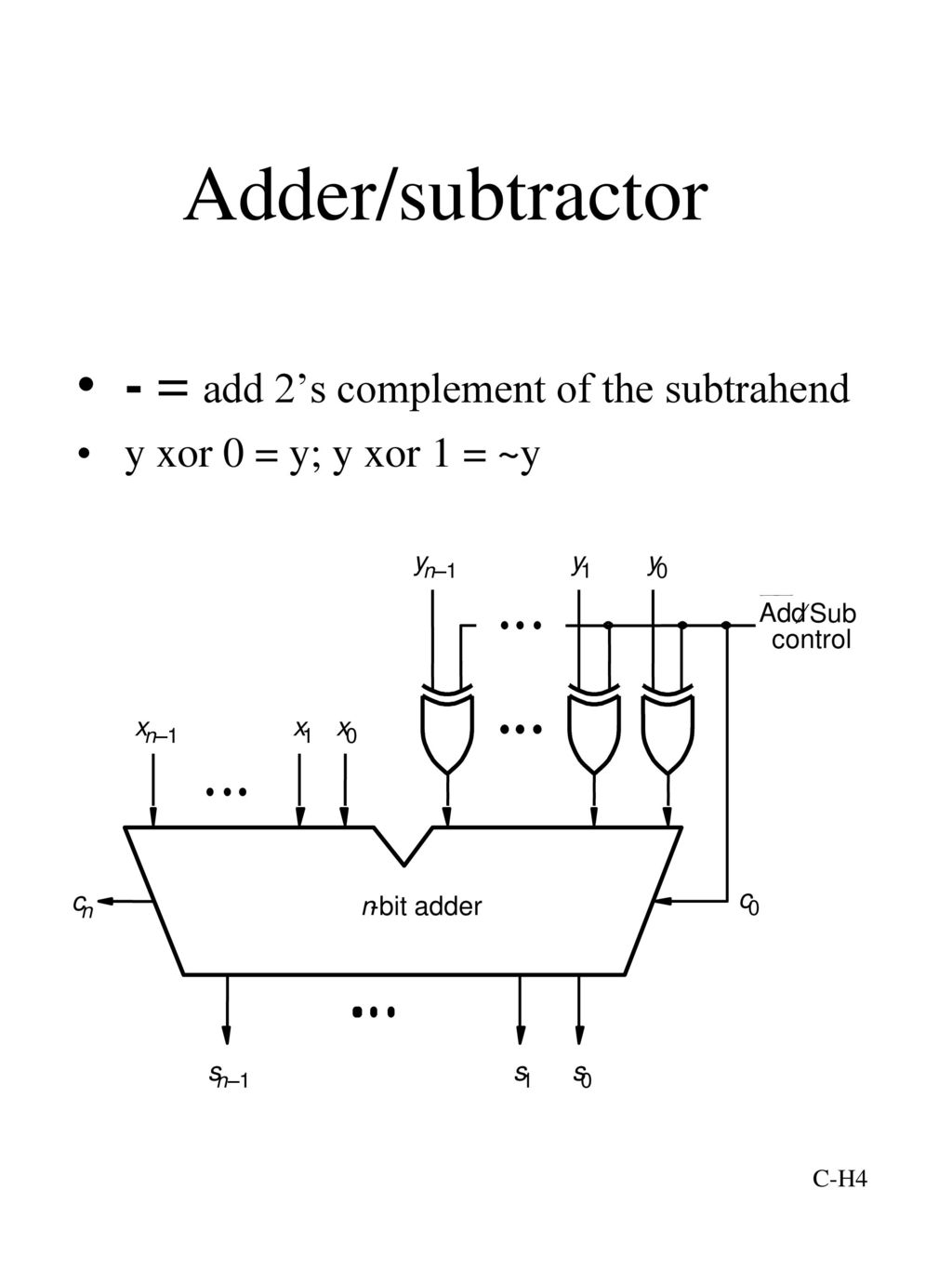 Lecture Adders Half Adder Ppt Download Bit 4 Subtractor