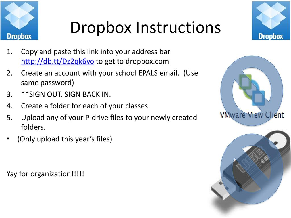 dropbox sign out