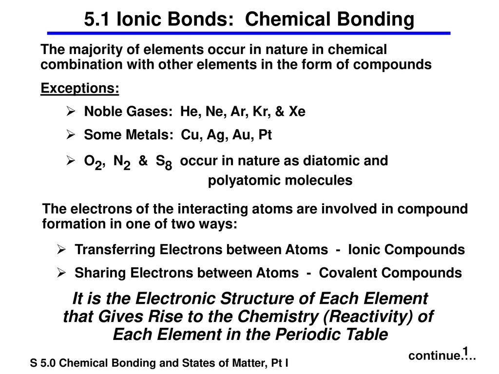 5 1 Ionic Bonds: Chemical Bonding - ppt download