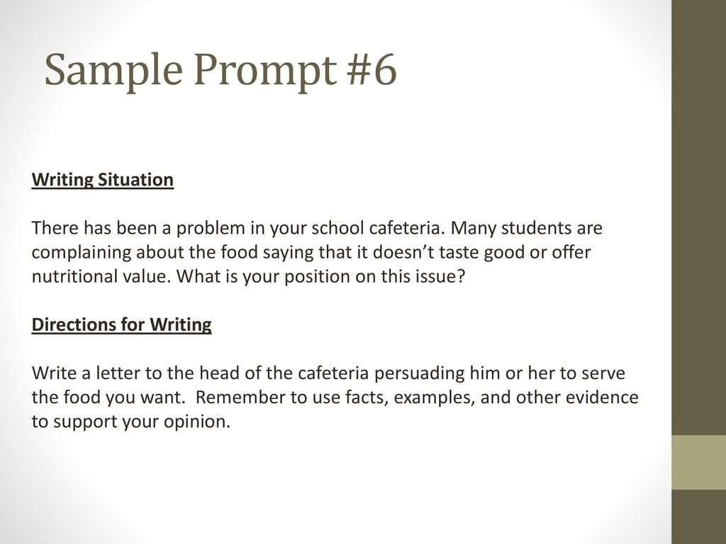 food writing examples