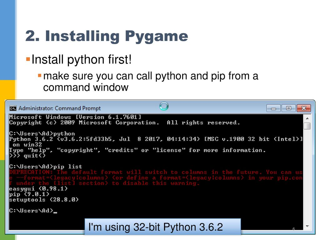 Help with pygame