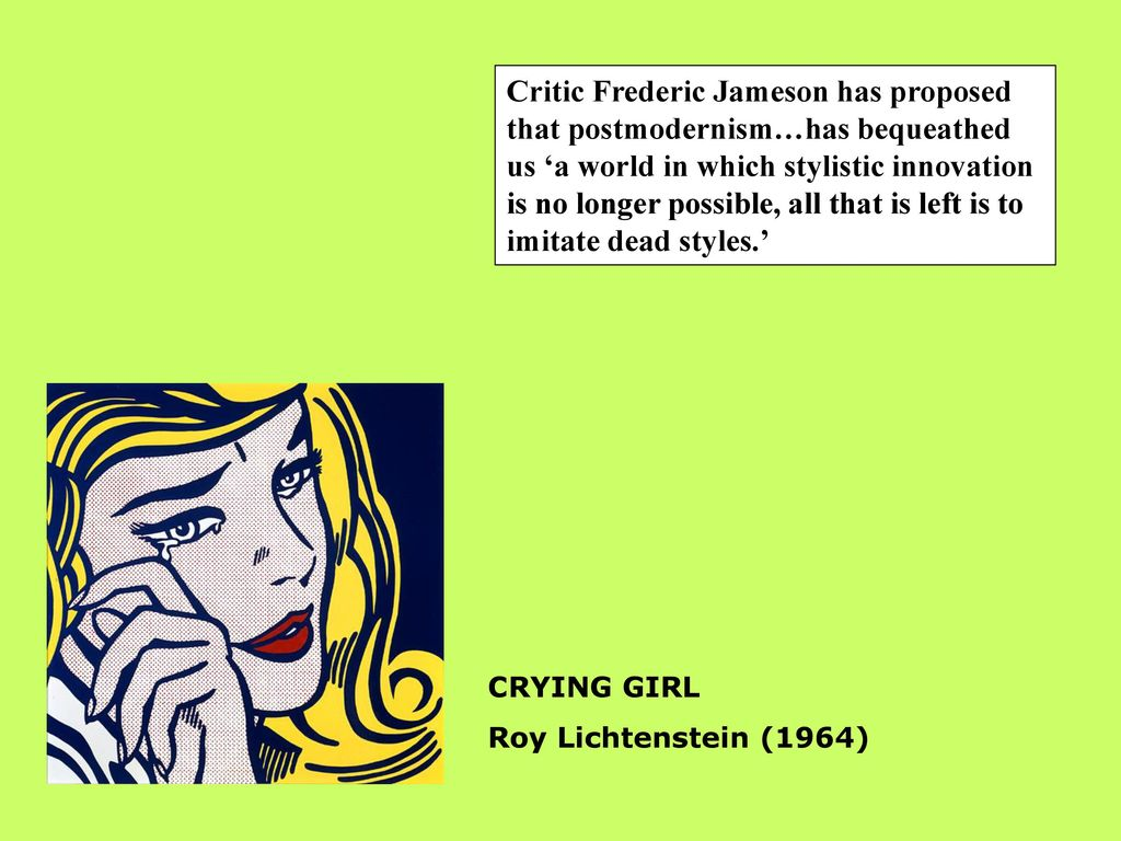 POSTMODERNISM POSTMODERNISM POSTMODERNISM POSTMODERNISM Introducing ...