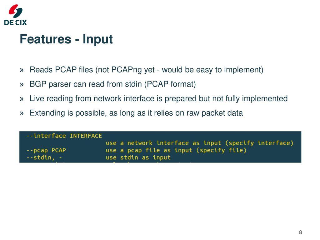 PCAP BGP Parser RIPE 73, Madrid Christoph Dietzel, Tobias Hannaske
