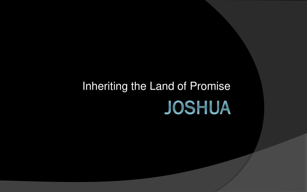 Inheriting the Land of Promise - ppt download