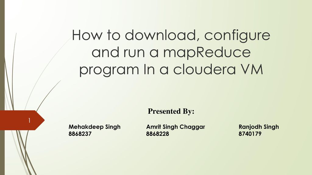 How to download, configure and run a mapReduce program In a
