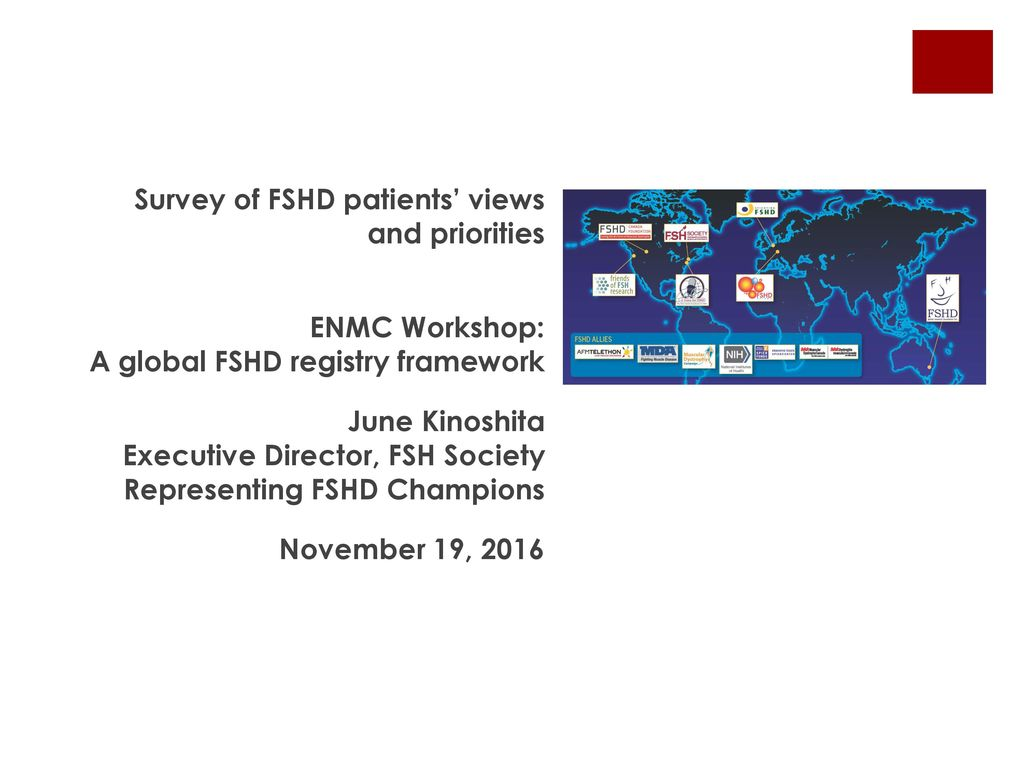 Survey of FSHD patients' views and priorities - ppt download