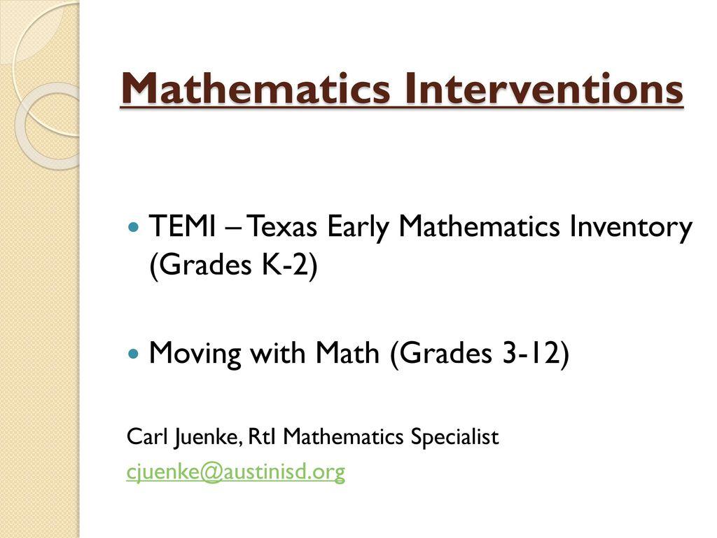 mathematics interventions ppt download rh slideplayer com 4th Grade Math Assessment 6th Grade Math Assessment