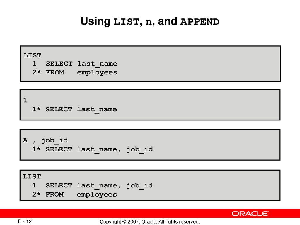 Using SQL*Plus  - ppt download