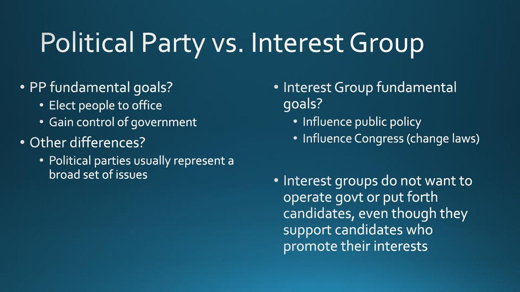 political parties v interest groups