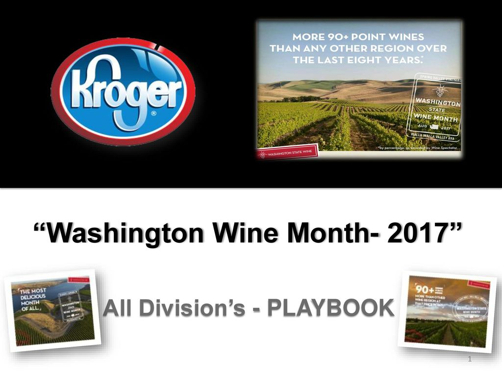 """Washington Wine Month- 2017"""" All Division's - PLAYBOOK - ppt download"""