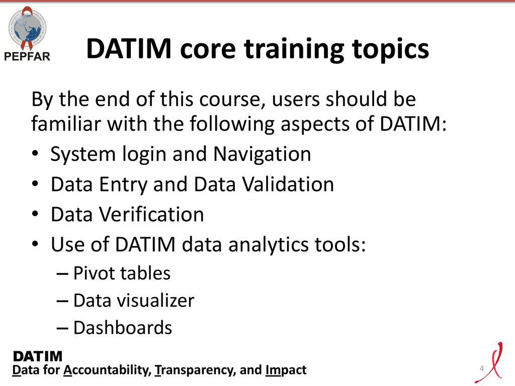 DATIM: Systems Jumpstart - ppt download