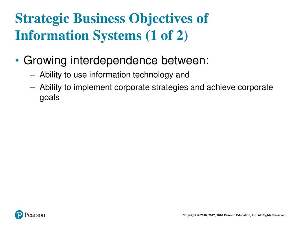strategic business objectives of information systems