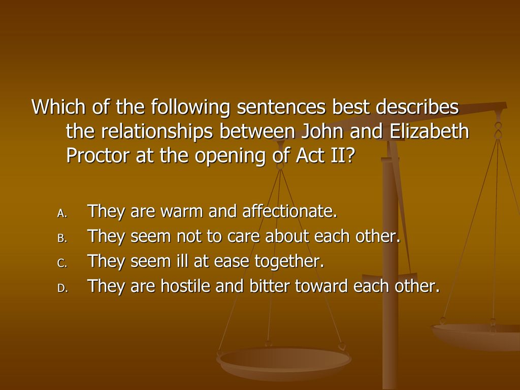 what is the relationship between john and elizabeth proctor